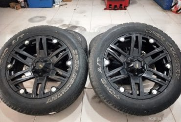 VELG SECOND PAJERO,FORTUNER,FORD TYPE R20 + BAN A/T UKURAN 275/55-20