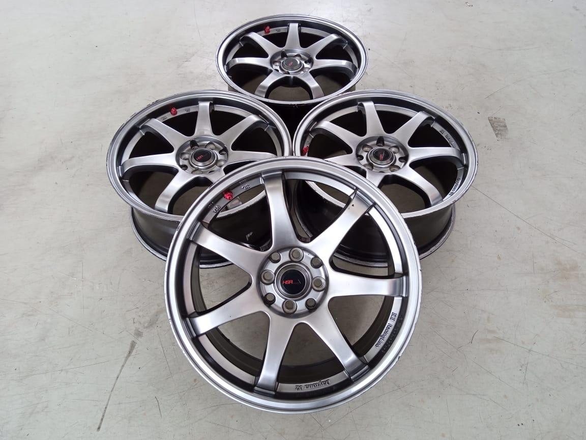 Velg Bekas HSR Type GTR Sport Ring 17 Cocok ,Freed ,Sigra ,Xenia ,Jazz