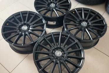 velg racing bekas murah ring17 type milano pcd 5×100-114,3 et40 black