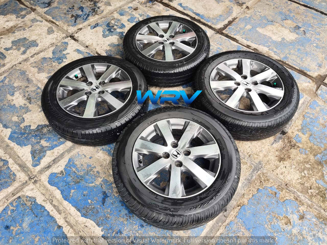 velg seken murah bekas freed ring 15×5 pcd 4×100 plus ban