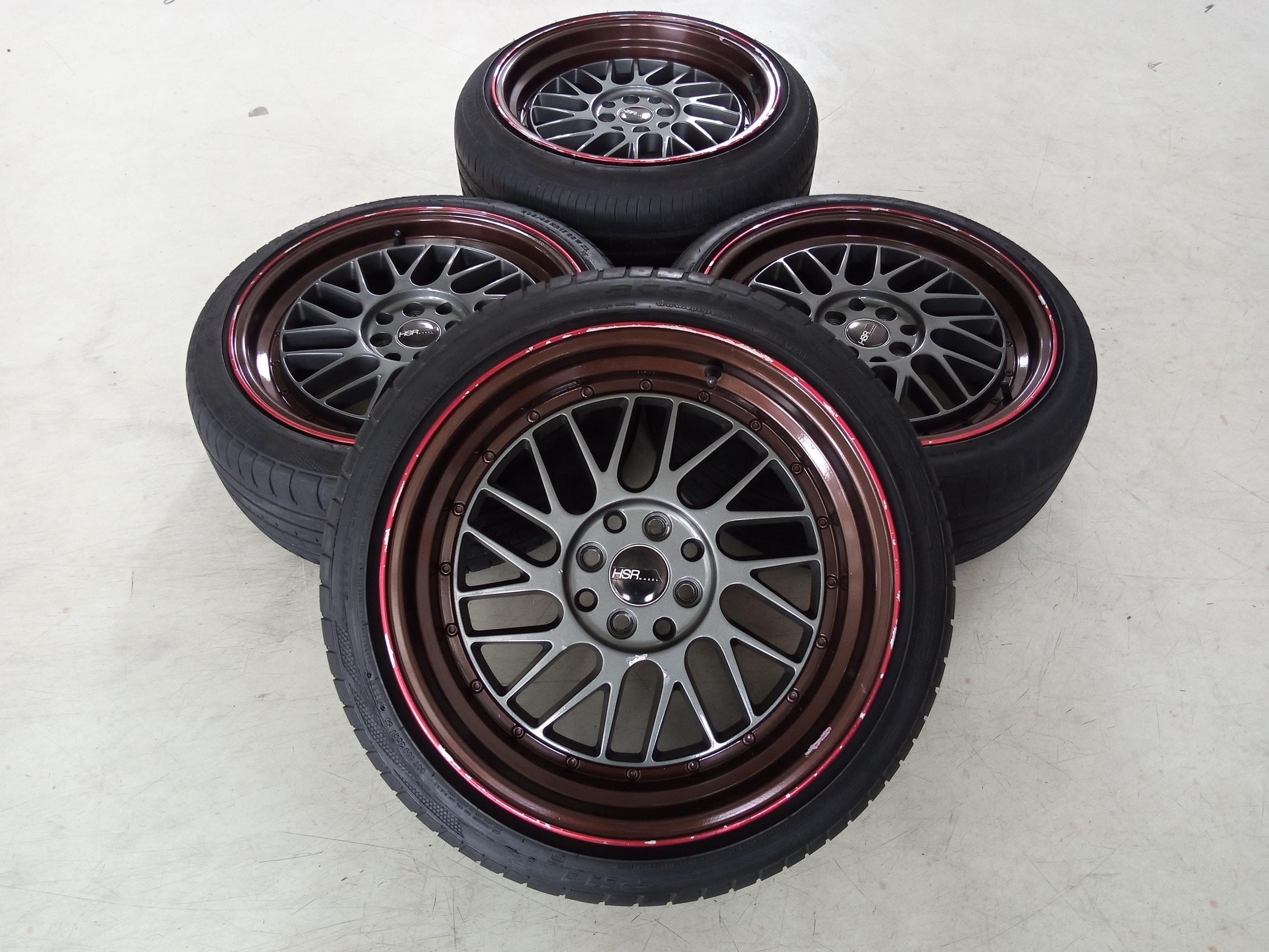 Velg Bekas Racing HSR Type Paddock Ring 17 Buat Mazda,Yaris,Livina,Soluna