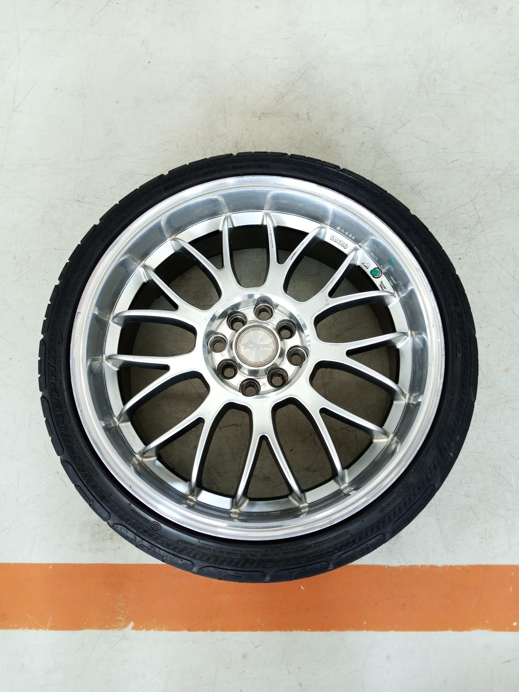 Velg Bekas Type K-Speed Ring 18 + Ban Buat Freed,Vios,City,Livina