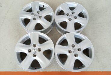 Velg Bekas Oem Toyota Yaris Palang 5 Ring 15 Pcd:4×100 Silver