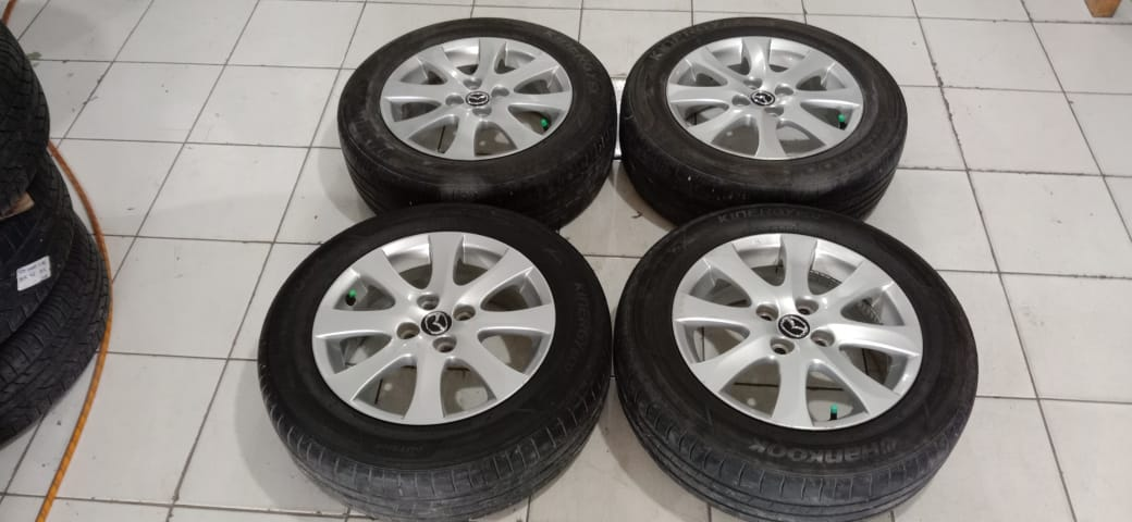 Velg Oem Mobil Bekas Mazda Ring 15 Pcd 4×100 Plus Ban R15