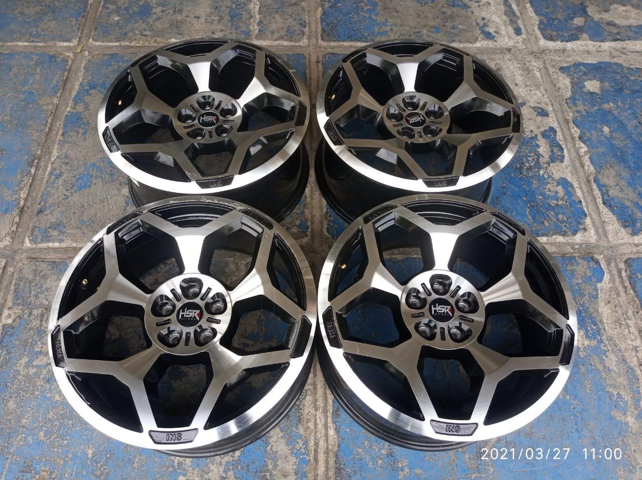 velg bekas mobil  ring 20 lebar 8,5 hole 5×114 warna hitam polish by hsr myth 05