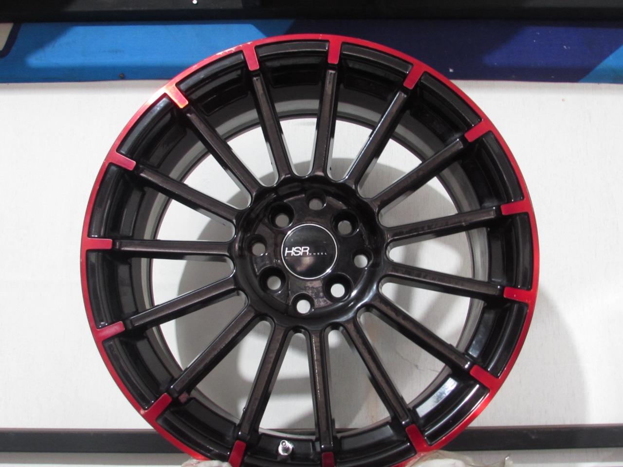 Velg mobil bekas ring 17 lebar 7 rata  hole 4×100 4×114 model jari jari by hsr wheel
