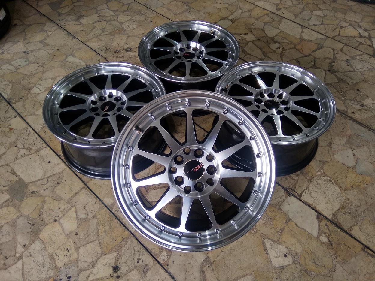Velg Mobil HSR Hardirit Ring 16 Lebar 7 Lubang Baut pcd 5×100, 5×114