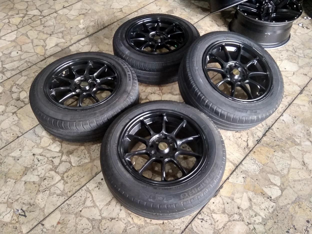 Velg Mobil SSW Ring 15 Lebar 7 pcd 4×100, 4×114 Ban Champiro 185/65R15