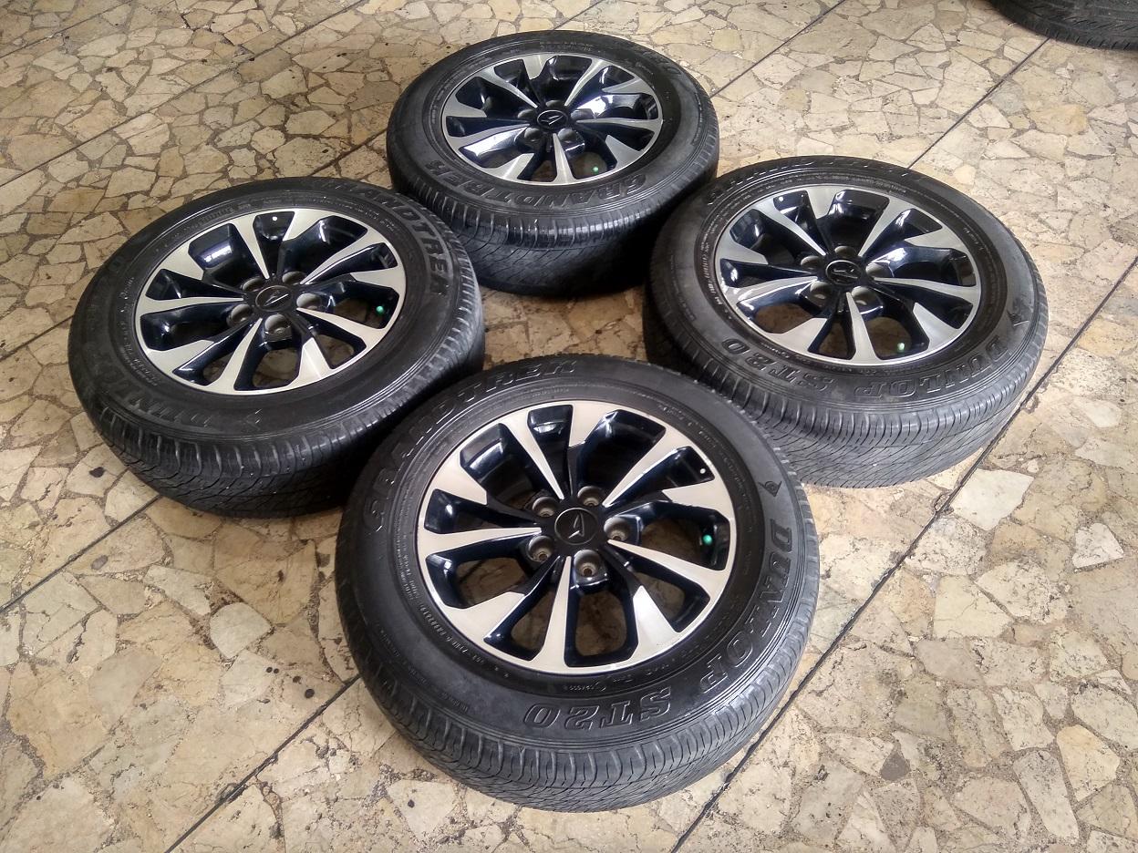 Velg Mobil Ori Terios Ring 16 Lebar 6,5 Lubang pcd 5×114 Dunlop 215/65